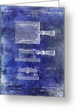 1900 Knife Switch Patent Blue Greeting Card