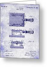 1900 Knife Switch Patent Blueprint Greeting Card