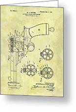 1901 Automatic Revolver Patent Greeting Card