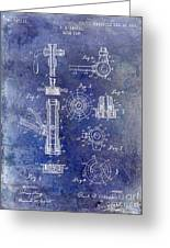 1903 Beer Tap Patent Blue Greeting Card