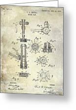 1903 Beer Tap Patent Greeting Card