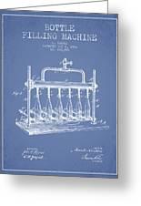 1903 Bottle Filling Machine Patent - Light Blue Greeting Card