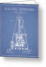 1903 Electric Metronome Patent - Light Blue Greeting Card