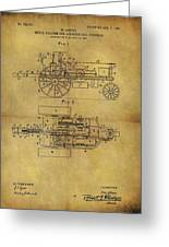 1903 Tractor Patent Greeting Card