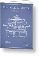 1903 Type Writing Machine Patent - Light Blue Greeting Card
