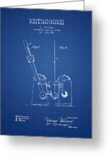 1904 Metronome Patent - Blueprint Greeting Card