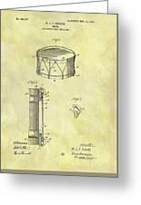 1905 Drum Patent Greeting Card