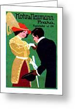 1905 Prague Fashion Poster Greeting Card