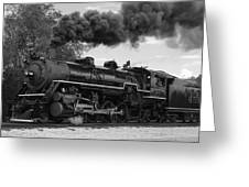1905 Steam Engine Greeting Card