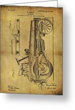 1907 Tractor Patent Greeting Card