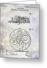 1908 Pocket Watch Patent  Greeting Card