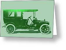 1909 Packard Limousine Green Pop Greeting Card