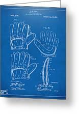 1910 Baseball Glove Patent Artwork Blueprint Greeting Card