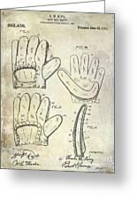 1910 Baseball Glove Patent  Greeting Card