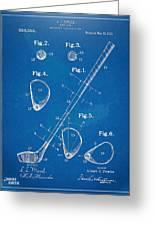 1910 Golf Club Patent Artwork Greeting Card by Nikki Marie Smith