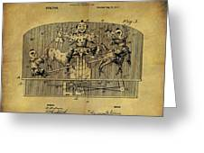 1910 Toy Circus Patent Greeting Card