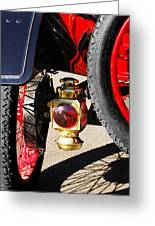 1911 Ford Model T Torpedo Lamp Greeting Card