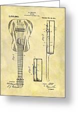 1911 Guitar Patent Greeting Card