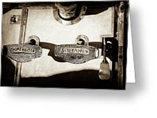 1911 Pope Hartford Model W Control Pedals -135s Greeting Card