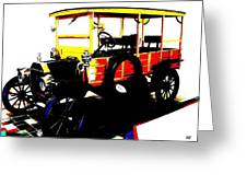 1912 Ford Model T Taxi Greeting Card