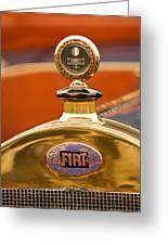 1913 Fiat Type 56 7 Passenger Touring Hood Ornament Greeting Card by Jill Reger