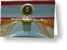 1913 White Gentleman's Roadster Hood Ornament Greeting Card