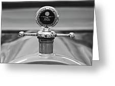 1913 White Gentlemans's Roadster Hood Ornament 2 Greeting Card