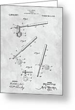 1913 Wrench Patent Illustration Greeting Card