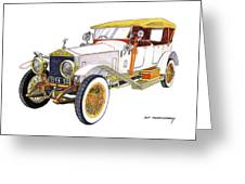 1914 Rolls Royce Silver Ghost Greeting Card