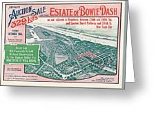 1915 Bronx Lots Sale Flyer Greeting Card