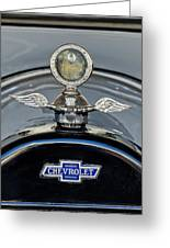 1915 Chevrolet Touring Hood Ornament 2 Greeting Card