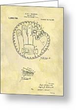 1916 Baseball Glove Patent Greeting Card