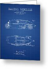 1917 Racing Vehicle Patent - Blueprint Greeting Card