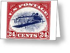 1918 Inverted Jenny Stamp Greeting Card
