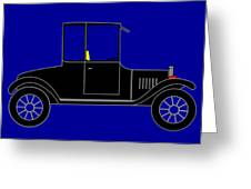 1919 Ford High Body Model T Coupe Greeting Card