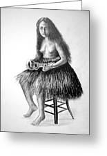 1919 Hawaiian Girl Greeting Card