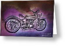 1920 Indian Motorcycle Purple Rain Framed Print By Scott