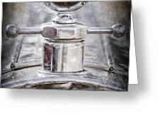 1920 Pierce-arrow Model 48 Coupe Hood Ornament -2829ac Greeting Card by Jill Reger