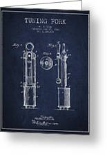 1920 Tuning Fork Patent - Navy Blue Greeting Card