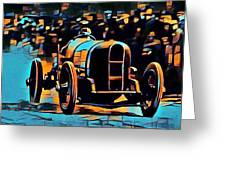 1920's Racing Car Greeting Card