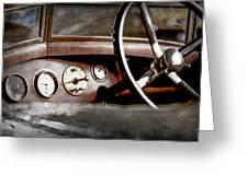 1921 Bentley Steering Wheel -0454ac Greeting Card