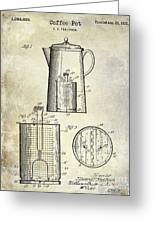 1921 Coffee Pot Patent Greeting Card