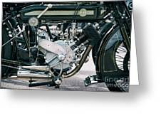 1921 P And M Motorcycle Greeting Card