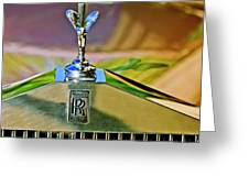1921 Rolls-royce Silver Ghost Phaeton Hood Ornament Greeting Card