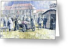 1922 Zbraslav Jiloviste Bugatti T13 Brescia Joan Halmovici Winner  Greeting Card