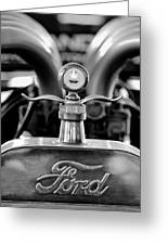 1923 Ford Hood Ornament 2 Greeting Card