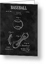 1924 Baseball Patent Illustration Greeting Card