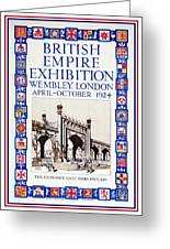 1924 British Empire Exhibition Wembley Greeting Card