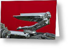 1924 Ford Hood Ornament Greeting Card