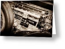 1924 Hispano-suiza H6b Dual  Cowl Sport Phaeton Engine Emblem -0258s Greeting Card